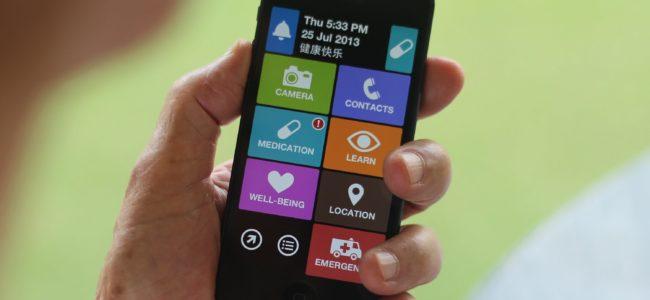 smartphone offrir à un sénior